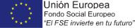"Unión Europea, Fondo Social Europeo, ""El FSE invierte en tu futuro"""
